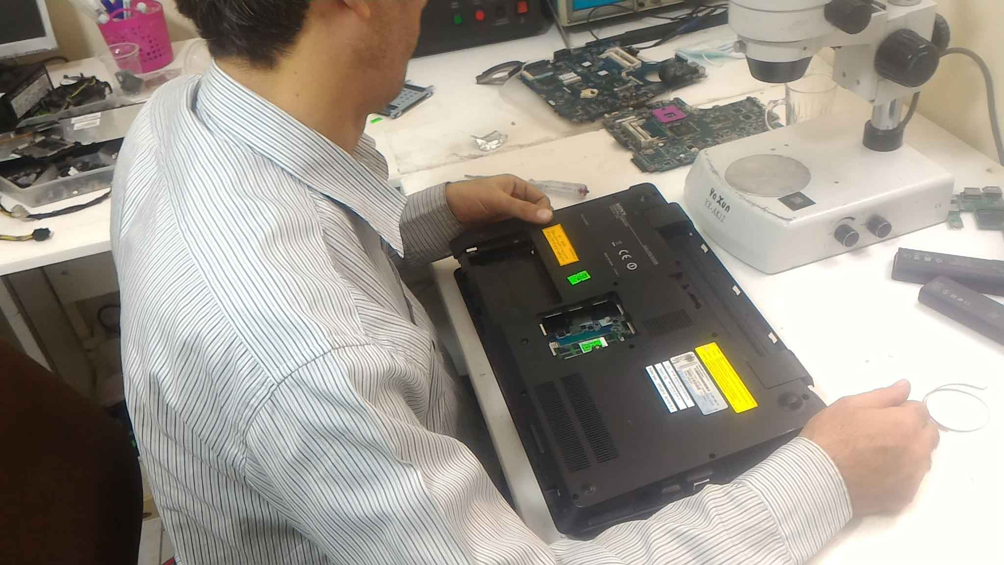 تعمیر لپ تاپ dell - دو